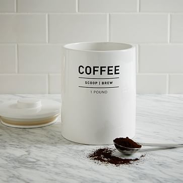 Utility Coffee Canister #westelm