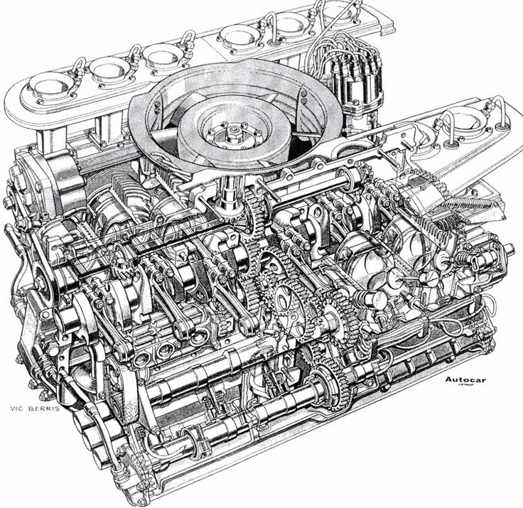 Porsche 917 is powered by a normally aspirated 'Type 912' engine which featured a 180° flat-12 cylinder layout. Many of its components are made of lightweght titanium, magnesium and exotic alloys.