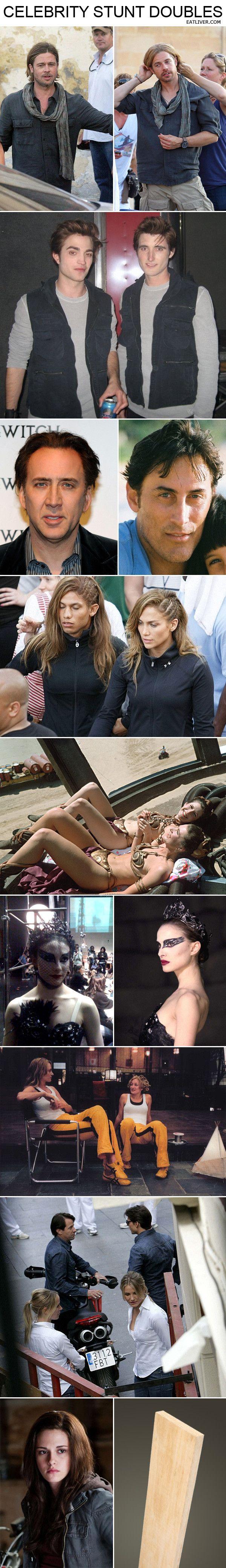 Celebrity stunt doubles. Bah ha ha ha ha...so true!