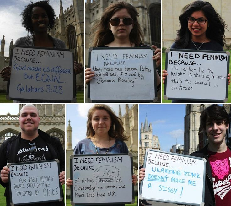 cambridge university students were asked on campus why they needed feminism.