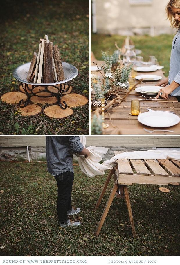 Rustic Autumn outdoor party   Photo: Q Avenue Photo, Styling: Lauren Ledbetter Design & Styling