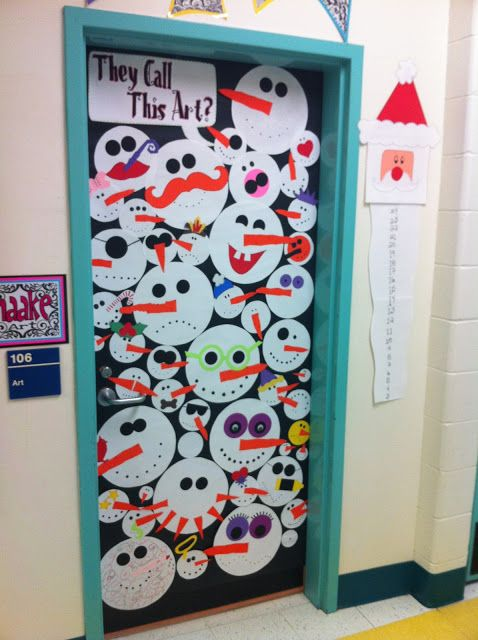 door covers. I would love to see how creative my kids get with snowman faces. Could be a good story starter for a snowman caper to liven up a cold January school day.