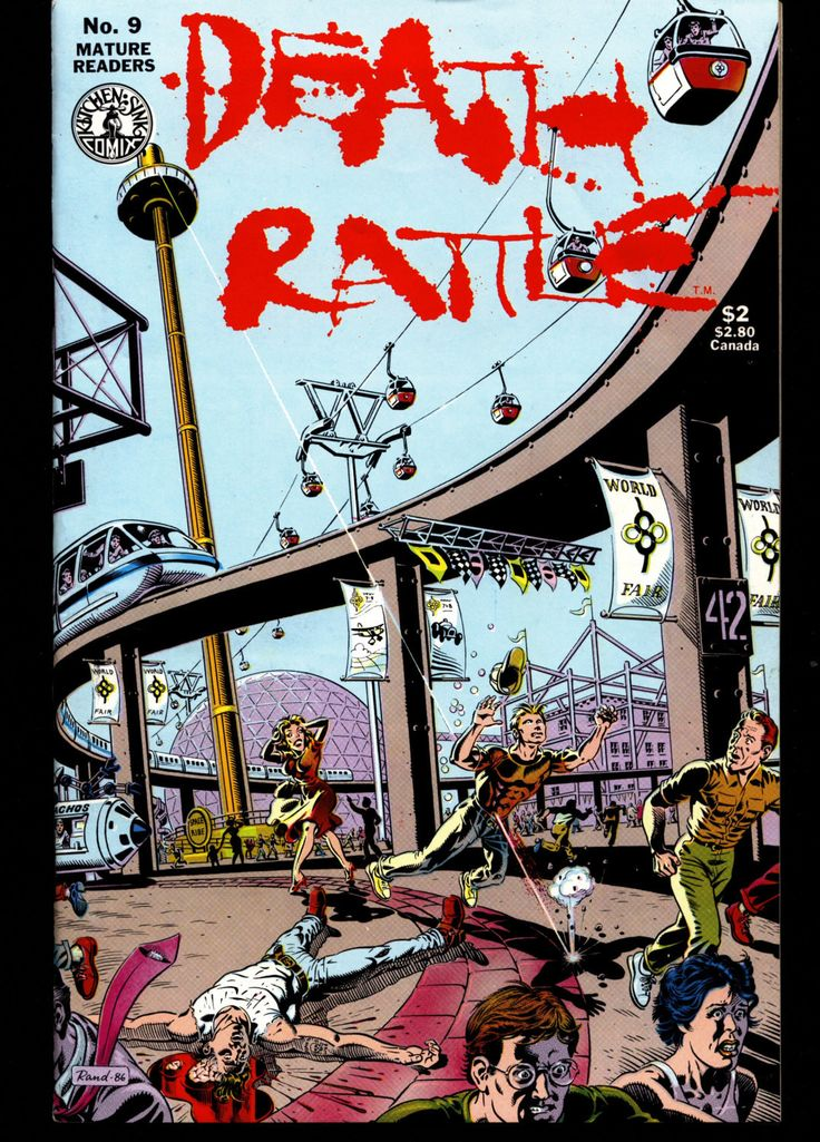 DEATH RATTLE #9 Basil Wolverton Rand Holmes Michael Newhall Horror Fantasy Science Fiction Psychedelic Underground Anthology Comic