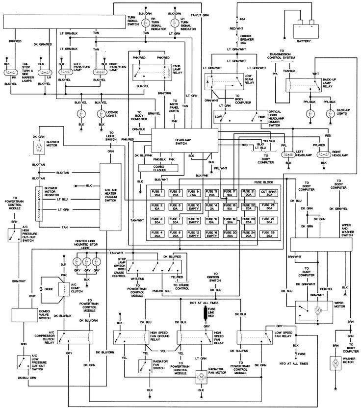 Image result for wiring diagram for horn on 2005 town and