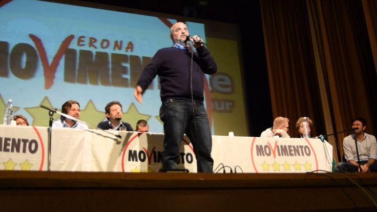 DAVID BORRELLI  M5S  si commuove a ...a Verona 17/03/2014
