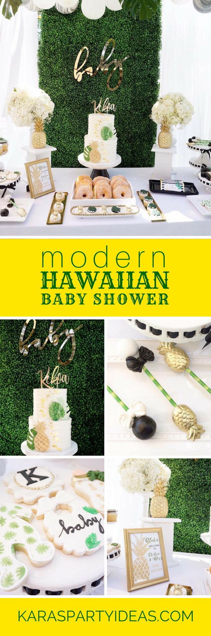 Modern Hawaiian Baby Shower via Kara's Party Ideas - KarasPartyIdeas.com