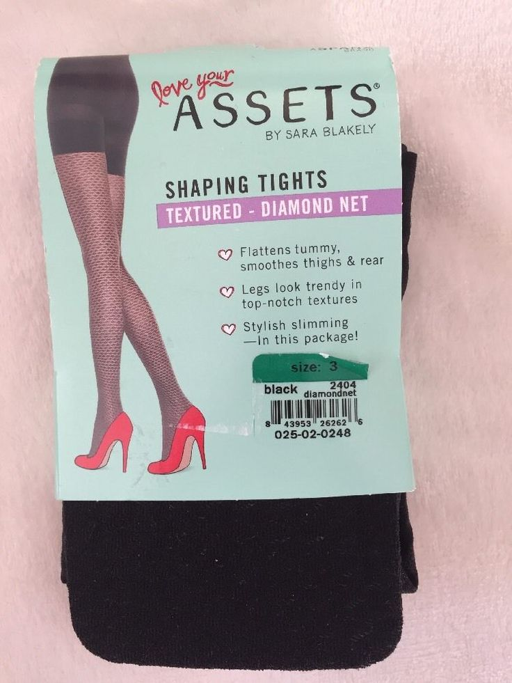 SPANX Textured-Dimond Net Tights Patterned Shaping Tights Size 3 BNWT Black