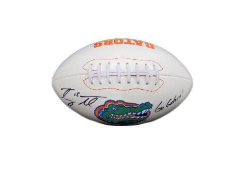 Tim Tebow Autographed Full Size Florida Gators Football w/ Proof Photo by Florida Gators. $149.95. This is a full size Florida Gators NCAA Commemorative Football that was hand signed by former Gators quarterback Tim Tebow. This full size football comes with a certificate of authenticity, matching holograms and a photo of Tim Tebow signing the football.