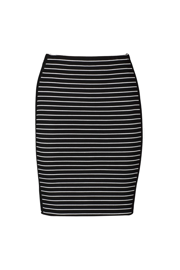 Pluto Tube Skirt in black and white stripe. Thick stripe ponte material with black panels at the sides, this skirt is very flattering. Team with tights and boots for winter warmth. To shop: https://shop.marvaldesigns.com.au/viktoria-and-woods-pluto-tube-skirt/dp/9310