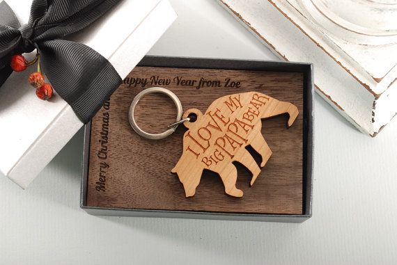 PAPA BEAR  ready to give gift box personalized by MoodForWood