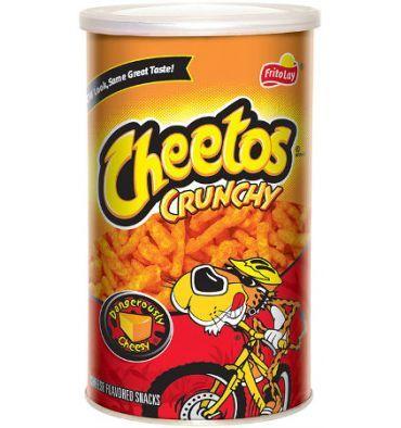 Les biscuits apéritif Cheetos sont fabriqués par Frito-Lay, qui produit les snacks préférés des Américains. Ces biscuits vous feront penser aux classiques français comme les Curly, mais les Cheetos sont au goût de cheddar et ont un croquant extrême. Essayez ! Les Cheetos deviendront probablenent vos biscuits apéro préférés.