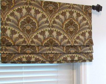 Items Similar To Banded Faux Roman Shade Lined Roman