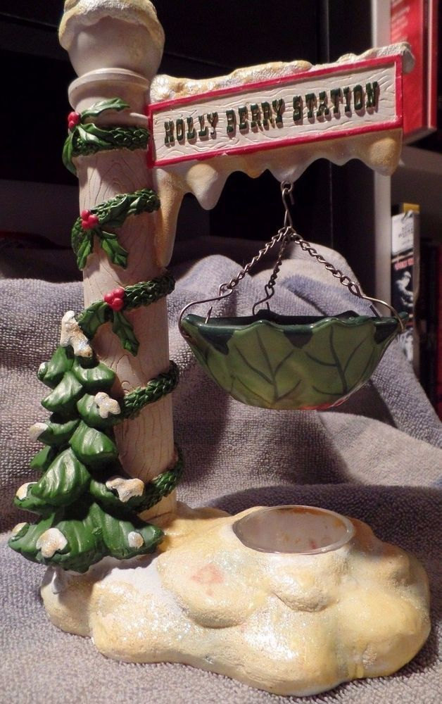 RETIRED Yankee Candle Hanging Tart Burner Christmas Holly Berry Station OOP RARE #YankeeCandle