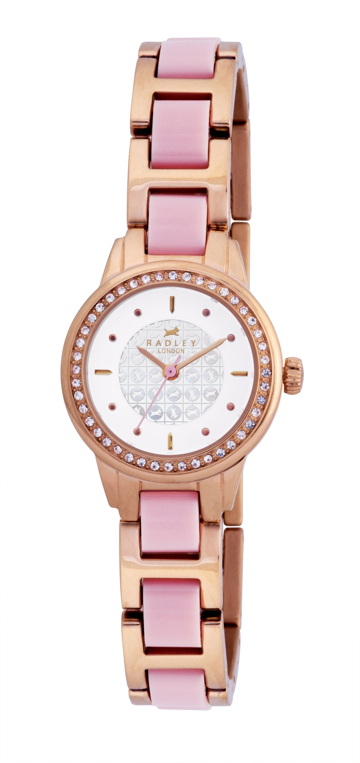 Radley ladies leather gloves - Radley Rose Gold Coloured And Pink Watch
