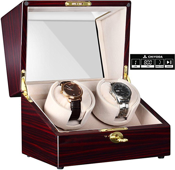 Amazon Com Chiyoda Automatic Double Watch Winder With Two Quiet