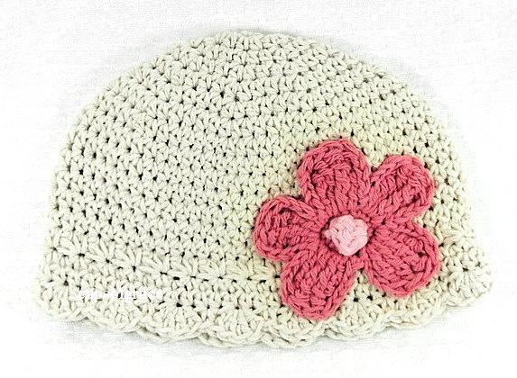 Daisy Crochet Baby Hat Pattern : Crochet Hat Pattern Newborn Crochet Hat Daisy Flapper PDF ...