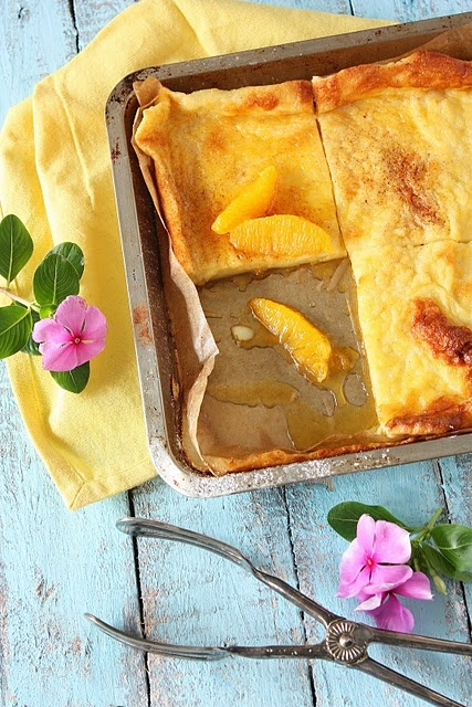 Finnish pancake is baked as one big piece. #Finland #Dessert #Food