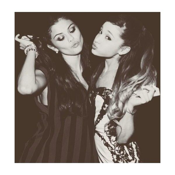 Tumblr ❤ liked on Polyvore featuring ariana grande, ariana, manips, my anon and selena gomez