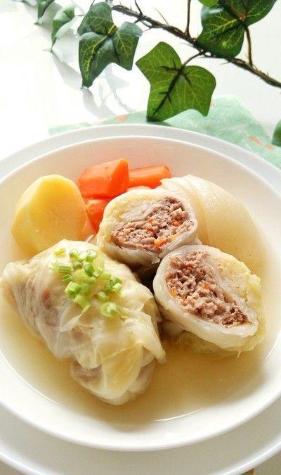 コンソメスープのロールキャベツ☆ by snow kitchen☆ さん | レシピ ...