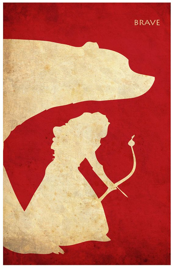 Pixar Brave Vintage Minimalist Poster Poster A3 by Posterinspired