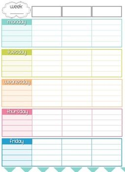 Best 25 class planner ideas on pinterest engineering classes teacher planner organizer blue pink peach lime teal theme pronofoot35fo Gallery