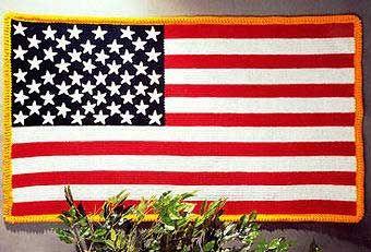 Stars & Stripes Crochet Afghan | AllFreeCrochetAfghanPatterns.com  This is the prettiest flag afghan I have ever seen.