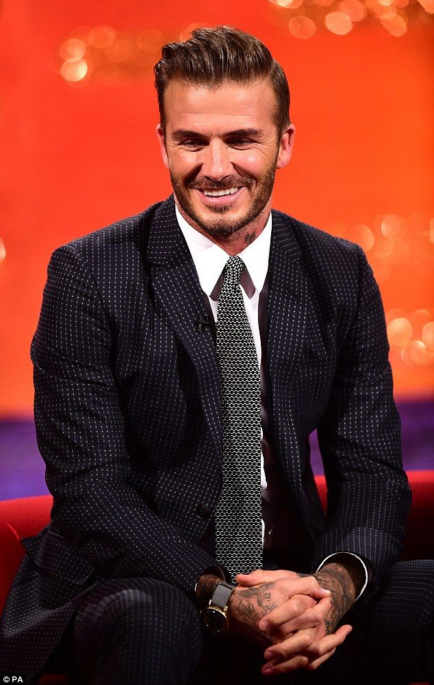 Brand Beckham: The father-of-four was no doubt facing questions about all things brand Beckham