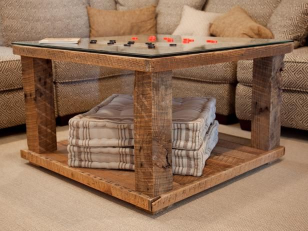HOW TO BUILD A RUSTIC CHECKERBOARD TABLE Page 1 Of 3 Made From
