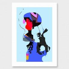 A Heady Combination Art Print by Philippa Riddiford