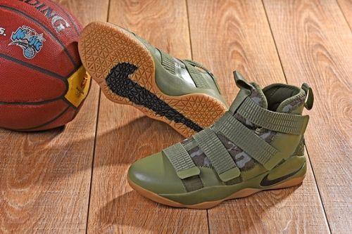 c3f5cfa9a96 Cheap Nike LeBron Soldier 11 SFG Medium Olive 897646-200 For Sale -  Cheaplebronshoes