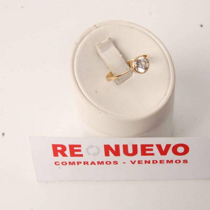 Solitario para dama de oro con una circonita E278268C | Tienda online de segunda mano en Barcelona Re-Nuevo