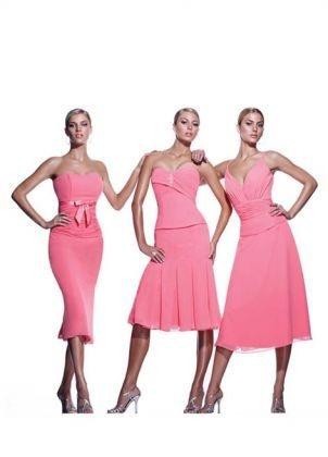 Rózsaszínű Impression Bridal koszorúslány ruhák 19