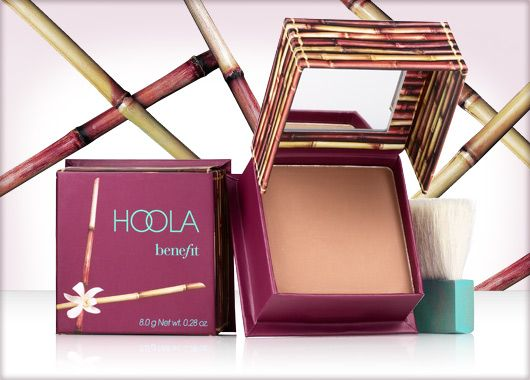 Hoola Bronzer by Benefit. You can't go wrong with one of the best bronzers ever! Gives you a hint of colour, not too dark if applied with the correct amount, does not irritate the skin. I usually use this on my neck after I apply the Benefit liquid foundation, as it blends in flawlessly & gives me the perfect look I want!