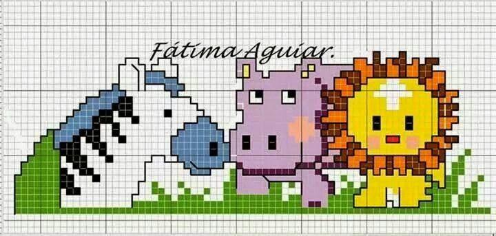 Animalitos en punto de cruz