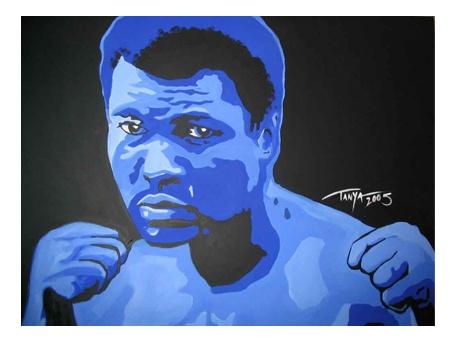 Muhammad Ali Painting by Tanya Garland: Ali Paintings