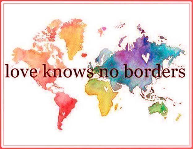 Motivational Quotes On Twitter Real Love Knows No Borders No Skin Colour No Language Peace Peace And Love World