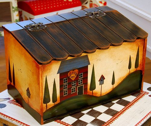 112 best decoupage bread box images on pinterest bread for Country craft house