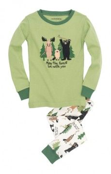 """Hatley Nature Kids """"May The Forest Be With You"""" Pajama Set"""