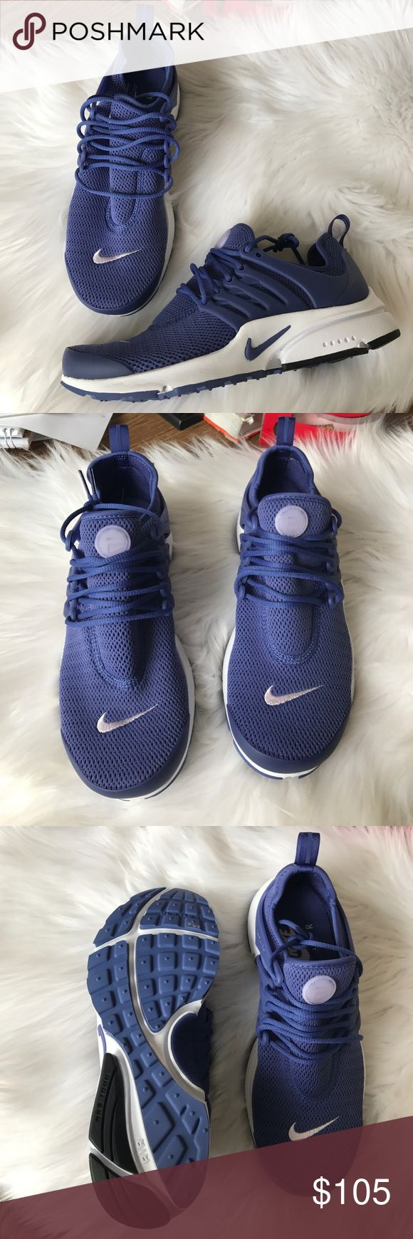 Nike Air Presto Sneakers Woman's Nike Air Presto sneakers Style: 846290-502 Dark purple and white New with original box Size 8  -060 on bottom sole of right sneaker Nike Shoes Sneakers