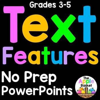 Nonfiction Text Features PowerPoint Activities No Prep! Bargain Bundle Broadcast...