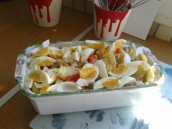 La salade pi montaise au jambon de chef dodo sur mon les recettes de chef dodo - Decoration de salade sur assiette ...