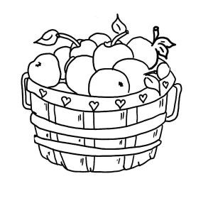 Free Coloring Pages Of Apple Basket