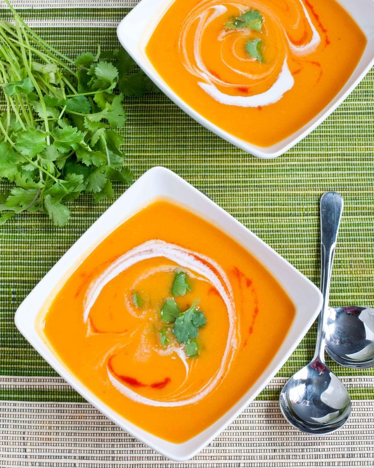 Spicy sweet potato soup - added 2 carrots and garlic. Didn't put the coconut milk in, instead just swirled some plain greek yogurt in. So delicious!