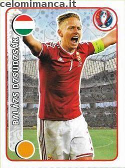 UEFA EURO 2016™ Official Sticker Album: Fronte Figurina n. 655 Balázs Dzsudzsák