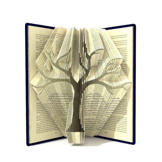 Book folding pattern FAMILY TREE 295 folds von SimplexBookFolding                                                                                                                                                                                 More