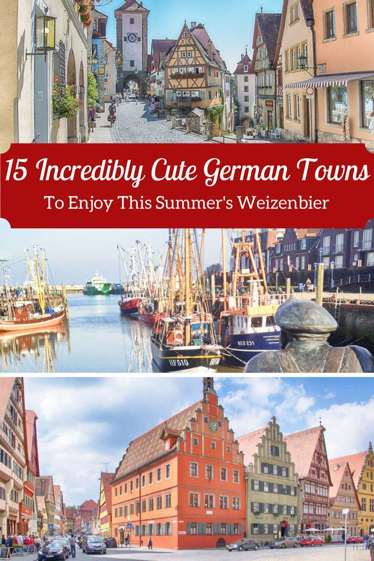 Towns to visit on your next trip to Germany.