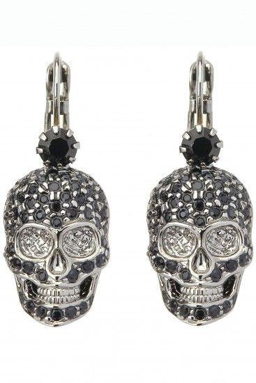 Philipp Plein Skull earrings
