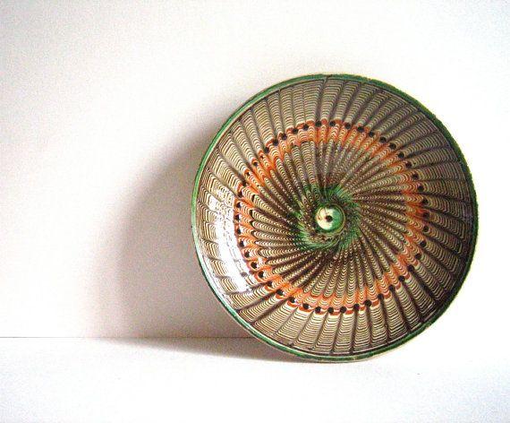 Vintage Folk Art HOREZU Large Romanian Ceramic by voladoravintage