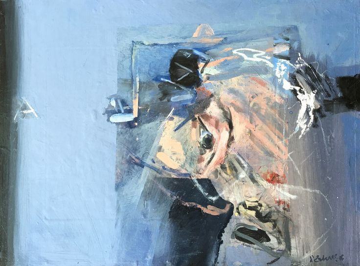 ELAINE d'ESTERRE - 'Flesh became Word', 2016, oil, 35x50 cm by Elaine d'Esterre ay http://elainedesterreart.com and http://www.facebook.com/elainedesterreart/ and http://instagram.com/desterreart/
