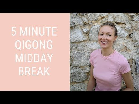 5 Minute Qigong Midday Break - Qigong Breathing to Relax and